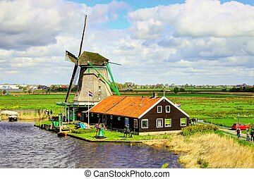 Zaanse Schans in Holland