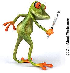 zabawa, żaba