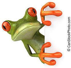 zabawa, żaba, z, niejaki, okienko znaczą