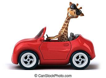 zabawa, żyrafa