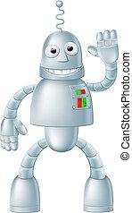 zabawa, charcater, robot