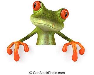 zabawa, czysty, żaba, znak