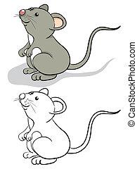 zabawa, mysz