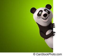 zabawa, panda