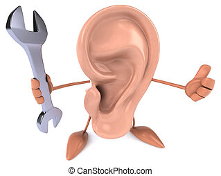 zabawa, ucho