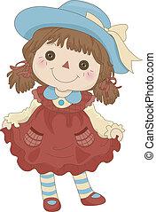 zabawka, gałganiana lalka