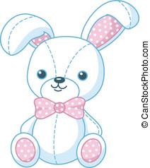 zabawka, miękki, królik