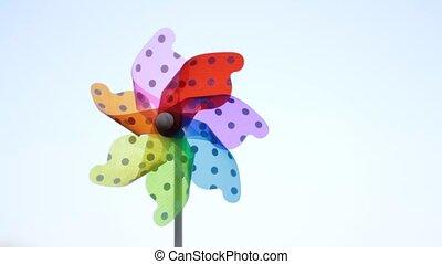 zabawka, pinwheels, barwny