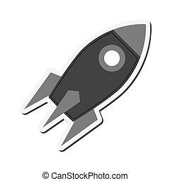 zabawkarska rakieta, ikona