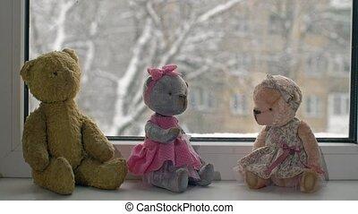 zabawki, i, śnieg, w razie, zewnątrz, przedimek określony...