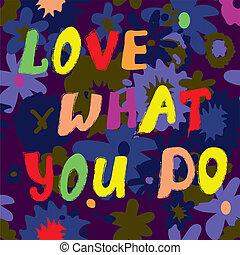 zabawny, co, miłość, cytat, ilustracja, projektować, ty, karta