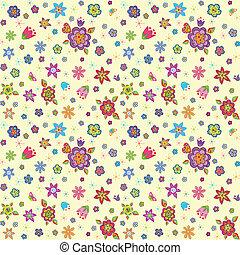zabawny, kwiaty, pakowacz