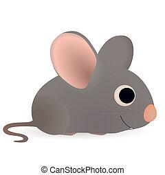 zabawny, mały, mysz