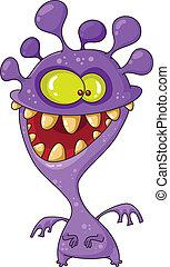 zabawny, potwór