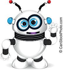 zabawny, robot