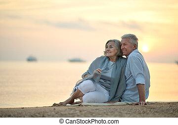 zabawny, starsza para