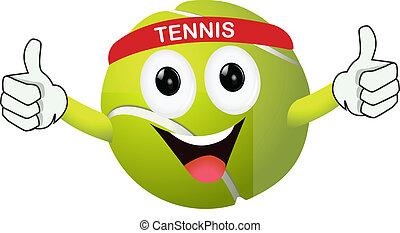 zabawny, tenisowa piłka