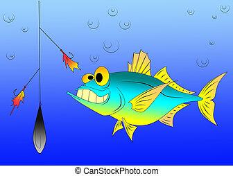 zabawny, tuńczyk