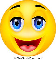 zabawny, uśmiech, emoticon