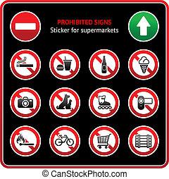 zabroniony, signs., rzeźnik