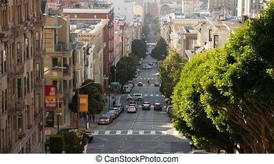 zabudowanie, górzysty, stan, ulica, walkway., usa., iconic, ...