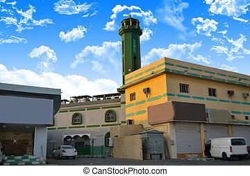 zabudowanie, meczet, jeddah, między