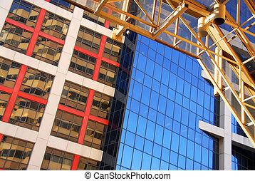 zabudowanie, nowoczesny, biuro
