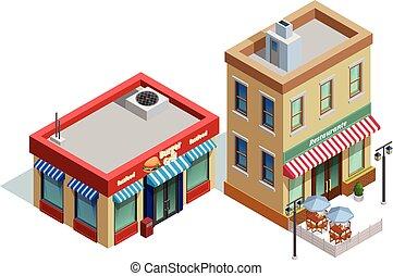 zabudowanie, skład, restauracja