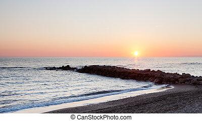 zachód słońca, śródziemnomorski