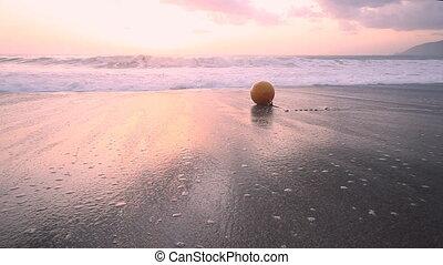 zachód słońca, fale przybrzeżne, sentymentalny, morze, śródziemnomorski