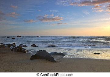 zachód słońca kalifornii