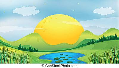 zachód słońca, prospekt