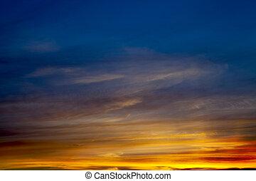zachód słońca, tło