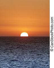 zachód słońca złotego