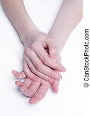 zacht, handen