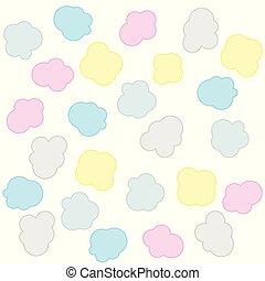 zacht, wolken, kleurrijke, achtergrondmodel