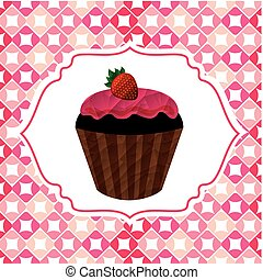 zachwycający, cupcake