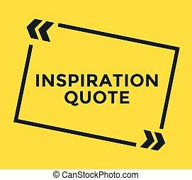 zacytować, quote., motywacja, element, wektor, inspiracyjny...