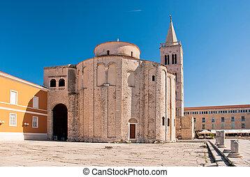 Zadar, beautiful old city in Dalmatia, Croatia