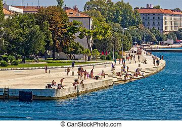 ZADAR, CROATIA - AUGUST 24th 2012: Zadar sea organs . Many...