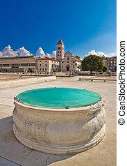 Zadar historic forum square view