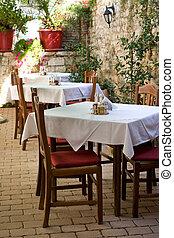 Atmospheric Dalmatian restaurant in city of Zadar, Croatia