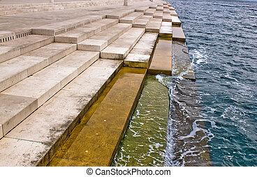 Zadar sea organs - powered by the sea stream - Zadar sea...
