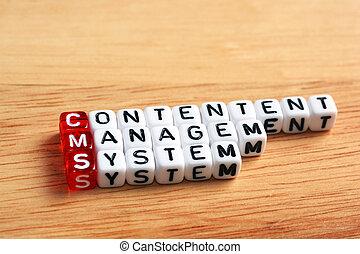 zadowolenie, kierownictwo, cms, system