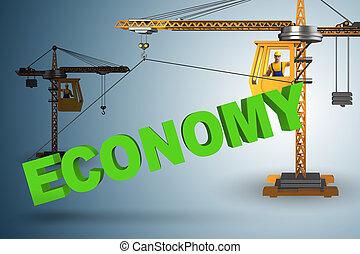 zadzierając, żuraw, ekonomia, słowo