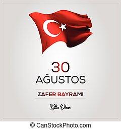 zafer, glade, august, fødselsdag, olsun), 30, bayrami, (30, ...