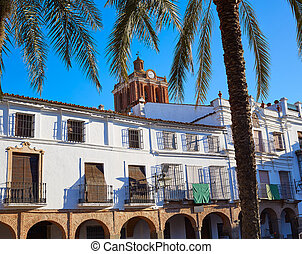 Zafra Plaza Grande in Spain Extremadura by the Via de la...