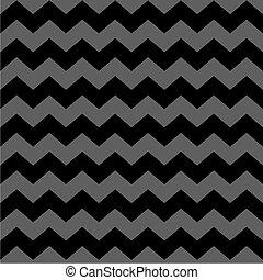 zag, grå, zig, vektor, svart, sparre, mönster, tegelpanna