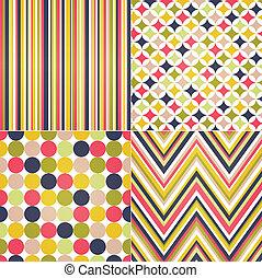 zag, stripes, seamless, zig, polka