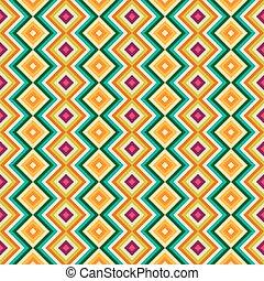 zag, tribal, seamless, rhombus, zig, étnico, padrão